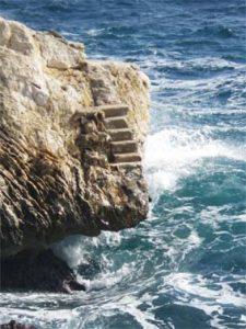 sabine lamarche - annales akashiques - escalier-en-mer